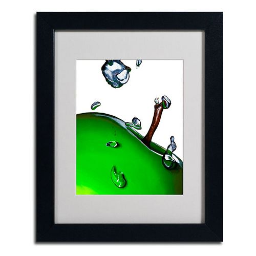 14'' x 11'' ''Granny Splash II'' Apple Framed Canvas Wall Art
