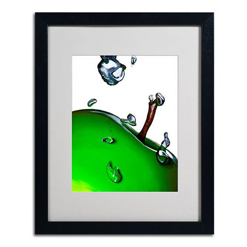20'' x 16'' ''Granny Splash II'' Apple Framed Canvas Wall Art