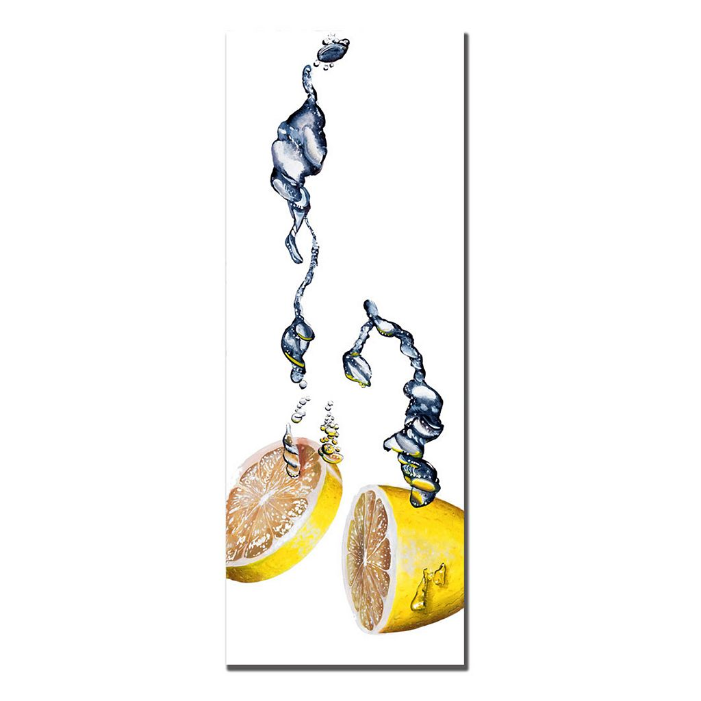''Lemon Splash II'' Canvas Wall Art