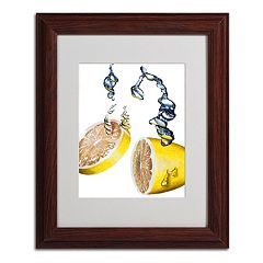 14'' x 11'' ''Lemon Splash II'' Framed Canvas Wall Art