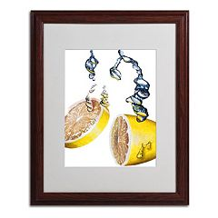 16'' x 20'' ''Lemon Splash II'' Framed Canvas Wall Art
