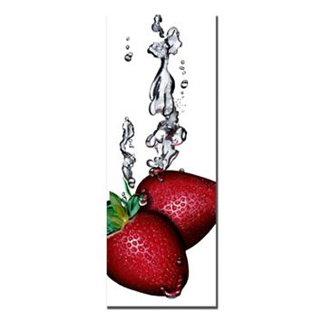 ''Strawberry Splash II'' Canvas Wall Art
