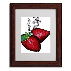 11'' x 14'' ''Strawberry Splash II'' Framed Canvas Wall Art