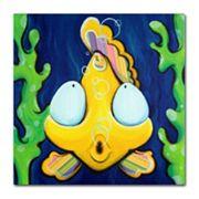 24'' x 24'' ''Fish Bubbles'' Canvas Wall Art