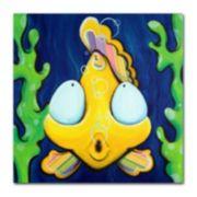 35'' x 35'' ''Fish Bubbles'' Canvas Wall Art
