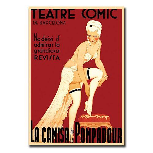 18'' x 24'' ''Teatre Comic de Barcelona'' Canvas Wall Art
