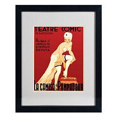16'' x 20'' ''Teatre Comic de Barcelona'' Framed Canvas Wall Art