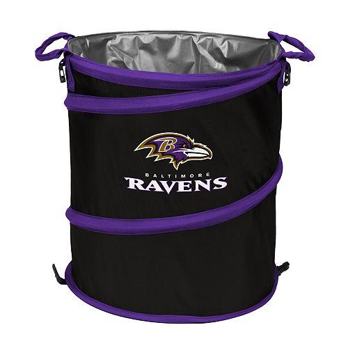 Logo Brand Baltimore Ravens Collapsible 3-in-1 Trashcan Cooler