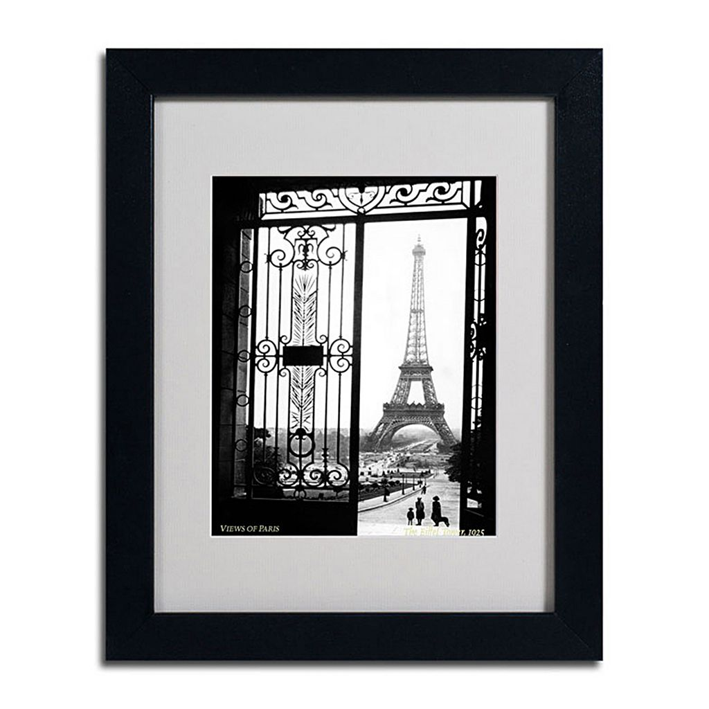 11'' x 14'' ''Views of Paris'' Framed Canvas Wall Art