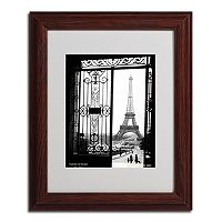 11'' x 14'' ''Views of Paris'' Framed Canvas Wall Art