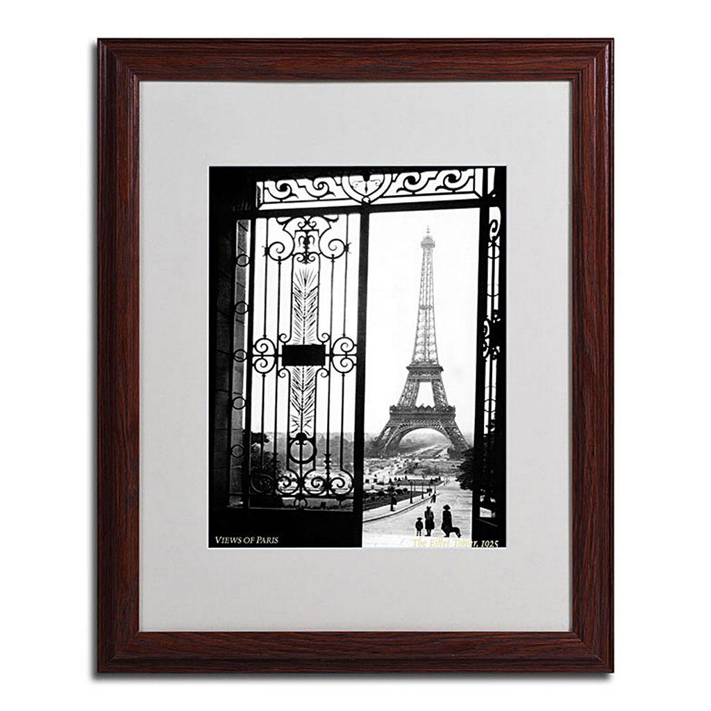 16'' x 20'' ''Views of Paris'' Framed Canvas Wall Art
