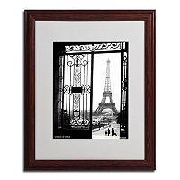 16'' x 20'' ''Views of Paris'' Framed Canvas Wall Art