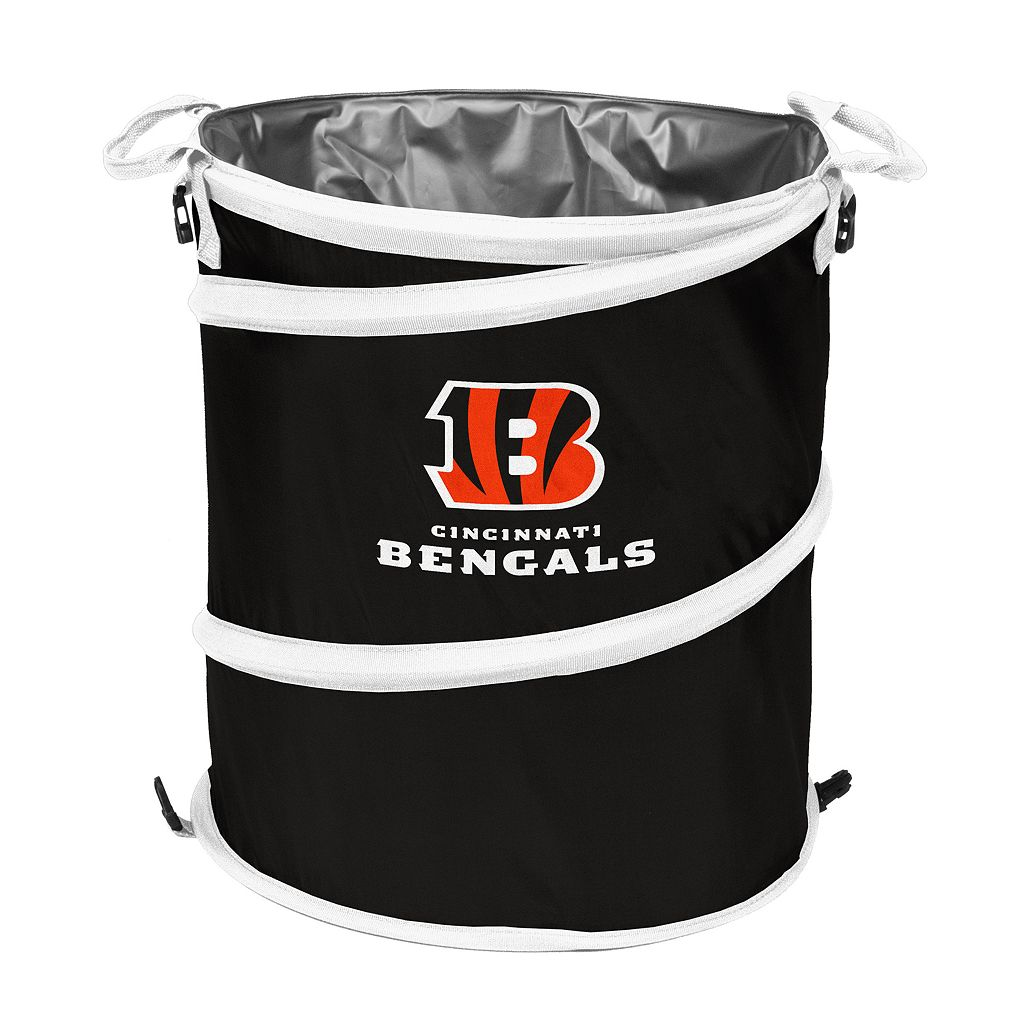 Logo Brand Cincinnati Bengals Collapsible 3-in-1 Trashcan Cooler