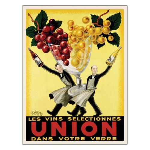 ''Union'' Wine Canvas Wall Art