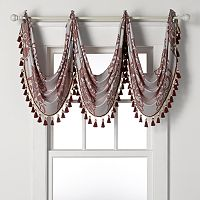Verano Jacquard Waterfall Window Valance - 24'' x 24''