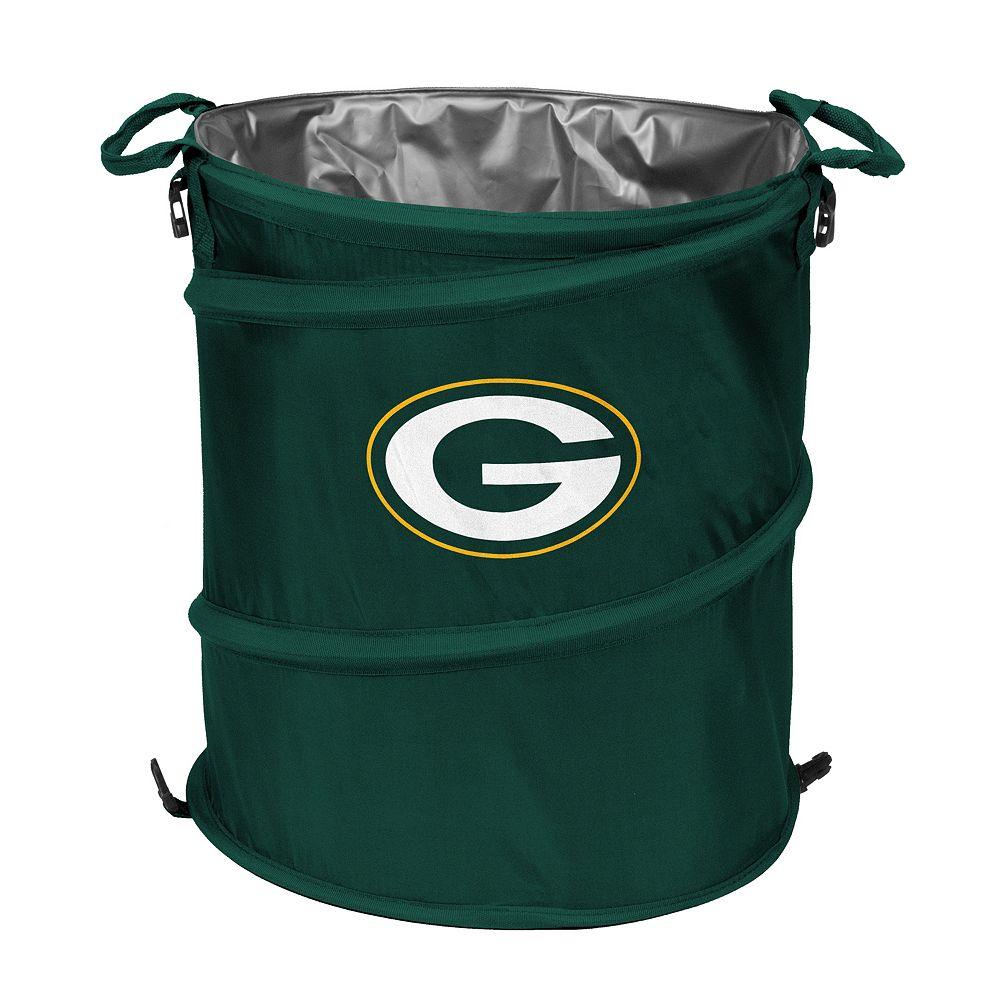 Logo Brand Green Bay Packers Collapsible 3-in-1 Trashcan Cooler