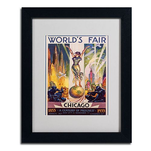 11'' x 14'' ''World's Fair Chicago'' Framed Canvas Wall Art