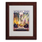 11'' x 14'' ''World's Fair Chicago'' Framed Canvas Wall Art
