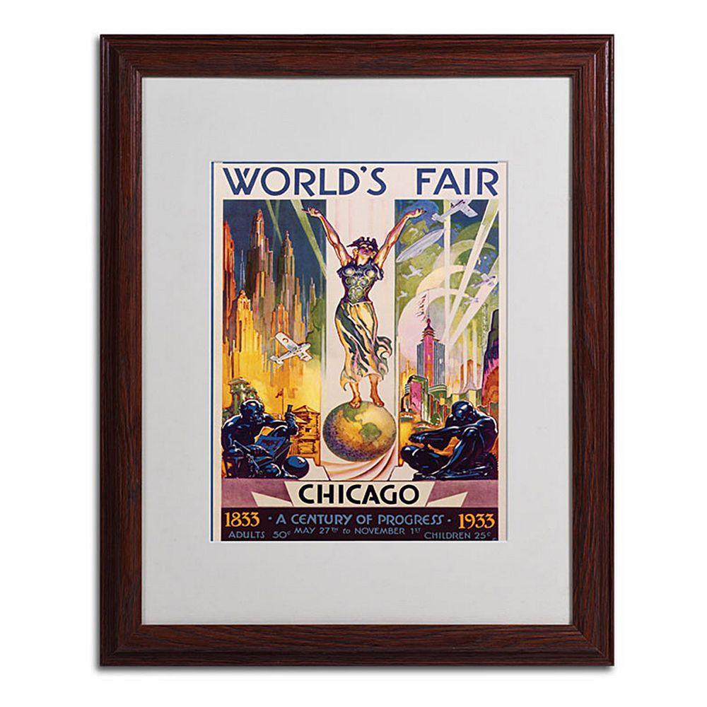 16'' x 20'' ''World's Fair Chicago'' Framed Canvas Wall Art