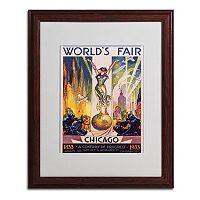 16'' x 20'' ''World's Fair Chicago'' Framed Canvas Wall Art
