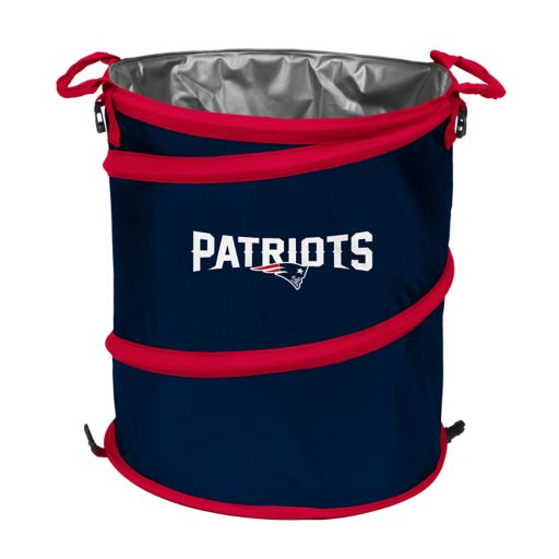 Logo Brand New EnglandPatriots Collapsible 3-in-1 Trashcan Cooler