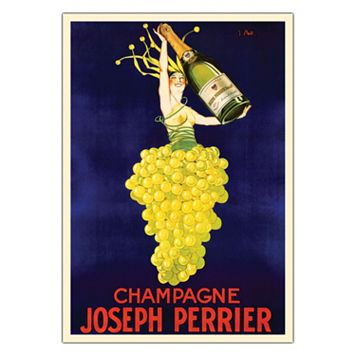18'' x 24'' ''Champagne Joseph Perrier'' Canvas Wall Art