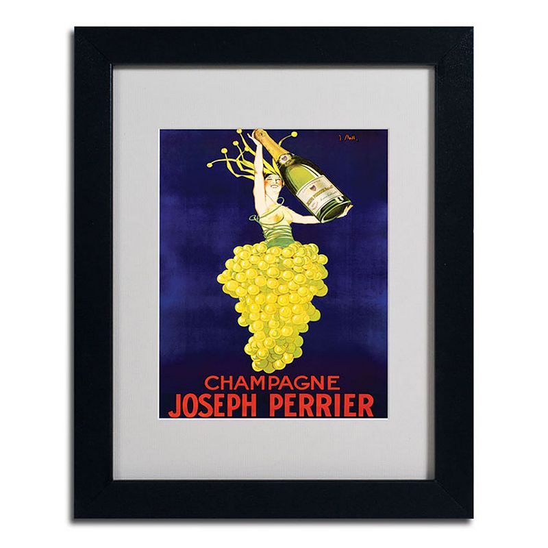 "11"" x 14"" ""Champagne Joseph Perrier"" Framed Canvas Wall Art, Black"