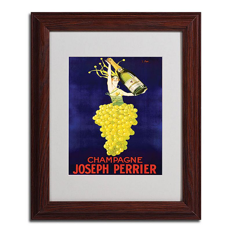 "11"" x 14"" ""Champagne Joseph Perrier"" Framed Canvas Wall Art, Brown"