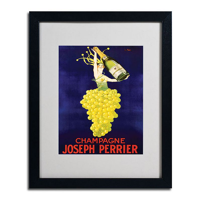 "16"" x 20"" ""Champagne Joseph Perrier"" Framed Canvas Wall Art, Black"