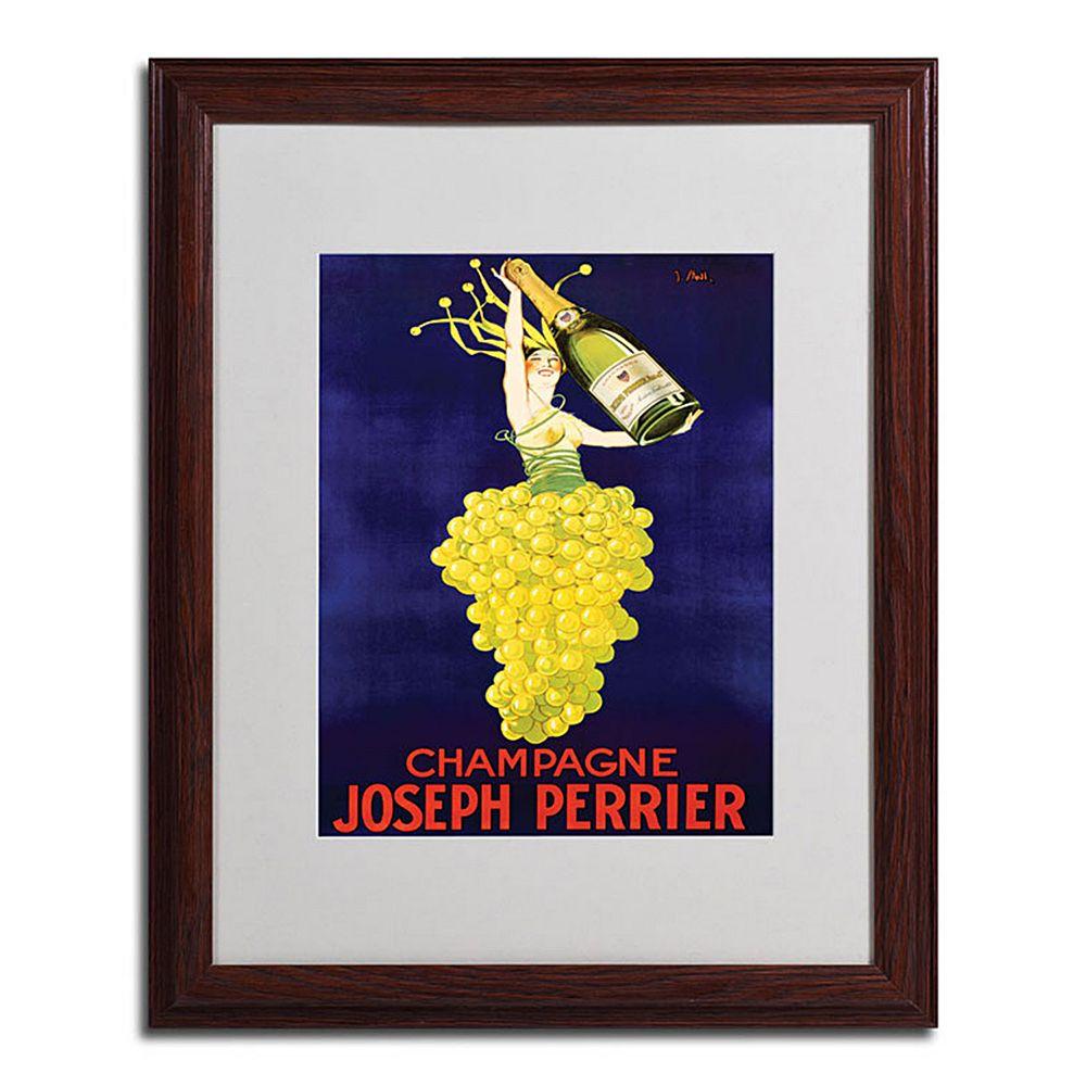 16'' x 20'' ''Champagne Joseph Perrier'' Framed Canvas Wall Art