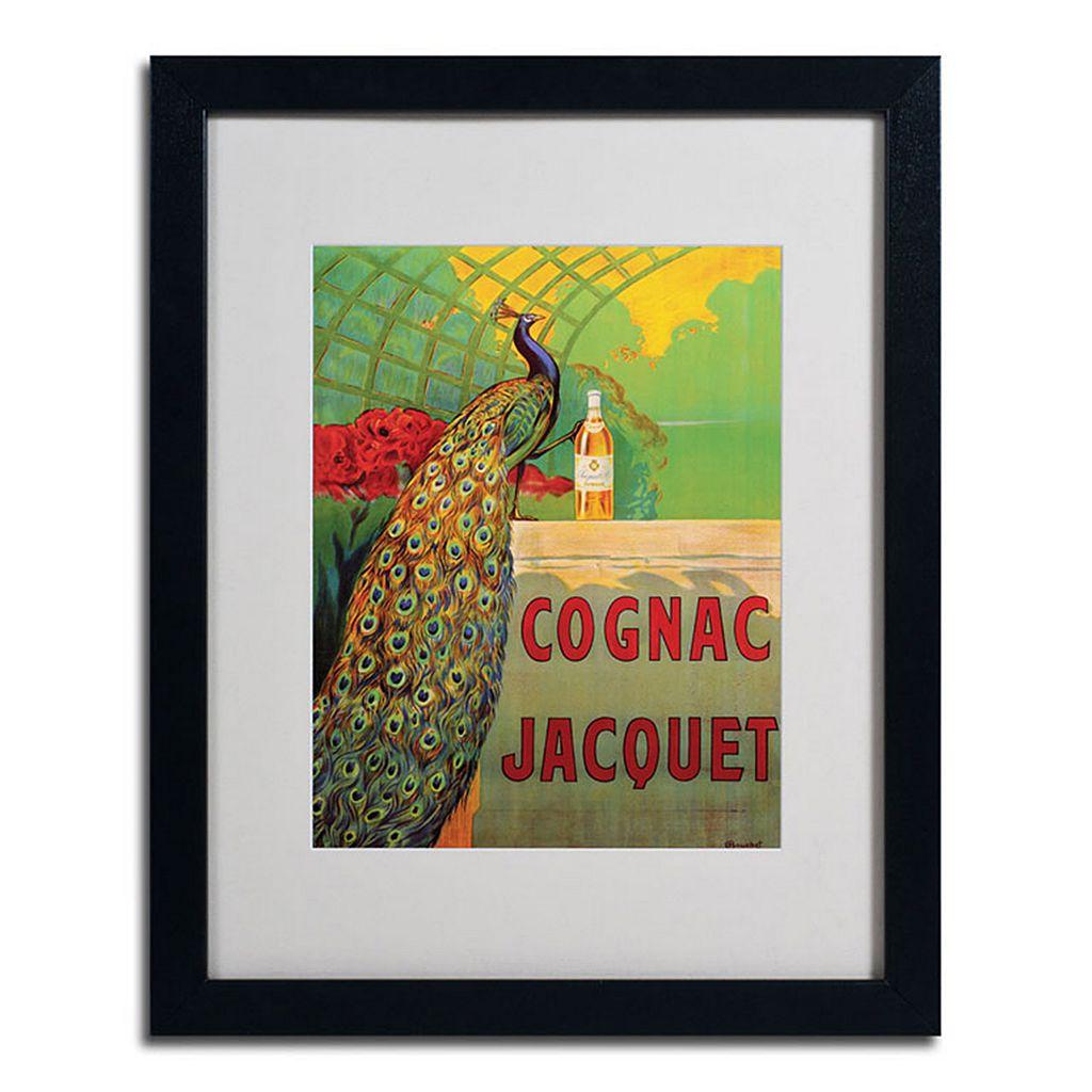 20'' x 16'' ''Cognac Jacquet'' Peacock Framed Canvas Wall Art