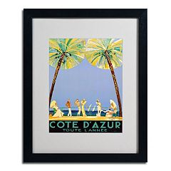 20'' x 16'' ''Cote D'Azur'' Beach Framed Canvas Wall Art