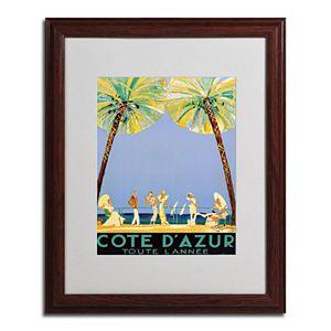 20'' x 16'' ''Cote D'Azur'' Beach Framed Canvas Wall Art