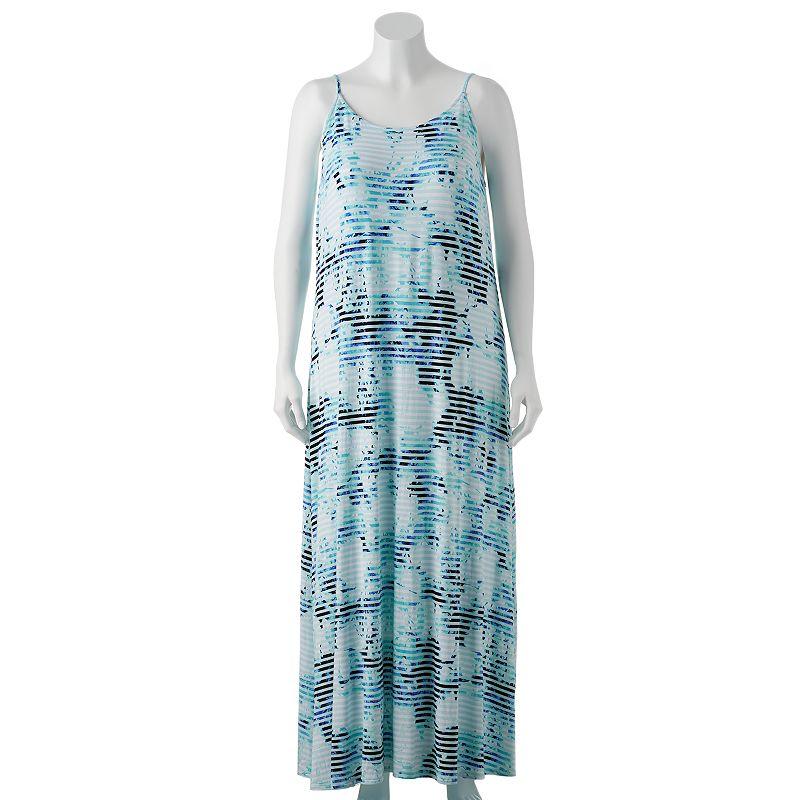 Apt. 9 Striped & Floral Maxi Dress - Women's Plus Size