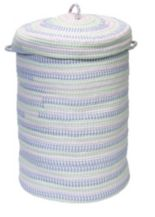 "Colonial Mills Fabric Ticking 16"" x 24"" Laundry Hamper"