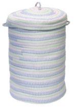 "Colonial Mills Fabric Ticking 16"" x 24"" Laundry Hamper"