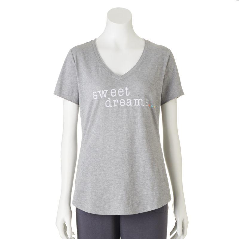SONOMA life + style Pajamas: Spring Escape Slubbed Tee - Women's Plus Size