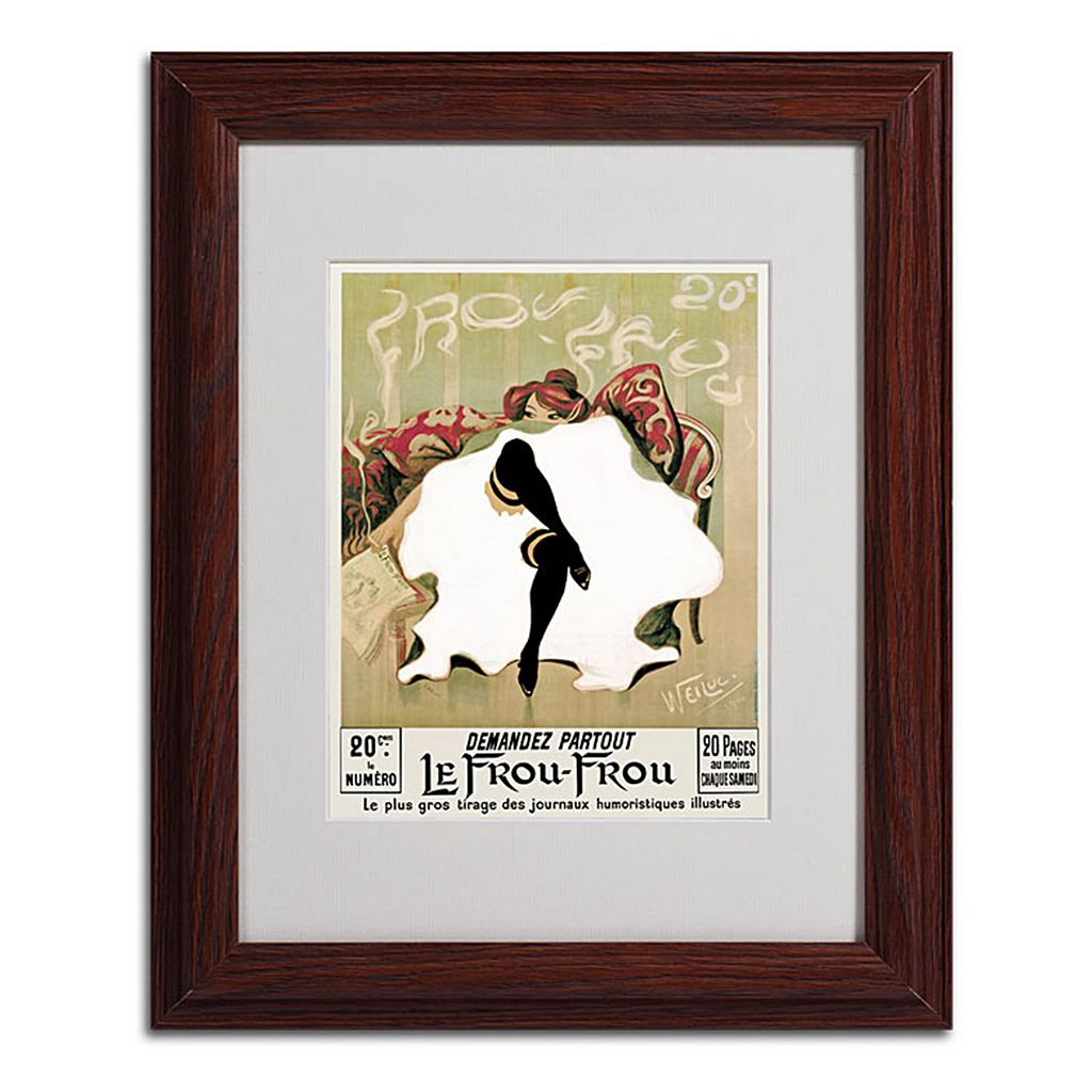 14'' x 11'' ''Le Frou Frou'' Framed Canvas Wall Art