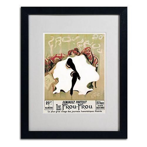 20'' x 16'' ''Le Frou Frou'' Framed Canvas Wall Art
