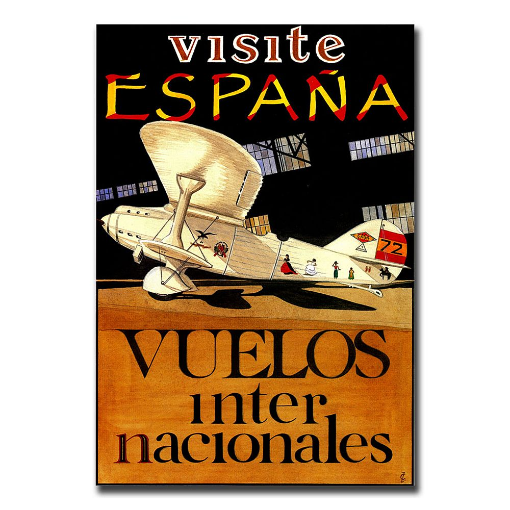 26'' x 32'' ''Visit Espana'' Canvas Wall Art