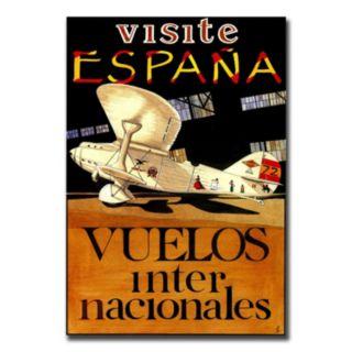26'' x 32'' ''Visit Espana'' Canvas Wall Art