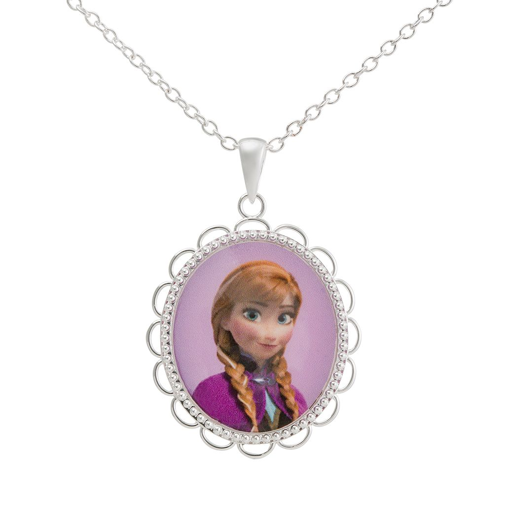 Disney Frozen Silver-Plated Anna Pendant Necklace