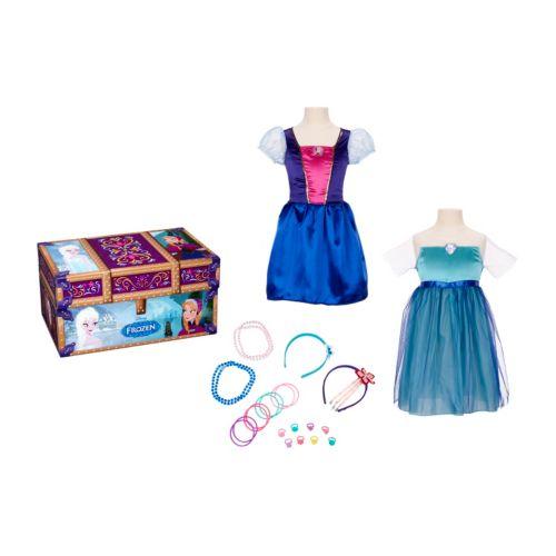 Disney Frozen Elsa and Anna Travel Trunk Dress-Up Set