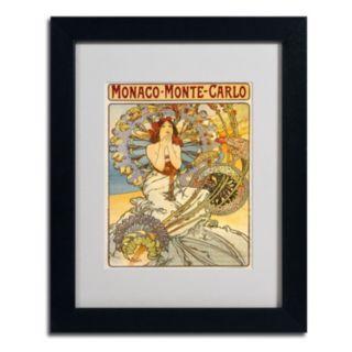 14'' x 11'' ''Monaco Monte Carlo'' Framed Canvas Wall Art