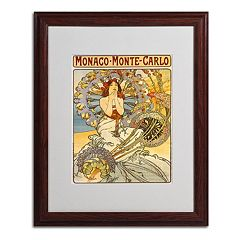 20'' x 16'' ''Monaco Monte Carlo'' Framed Canvas Wall Art
