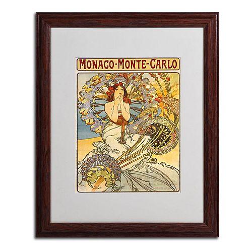 20'' x 16'' ''Monaco Monte Carlo'' Framed Canvas Wall Art