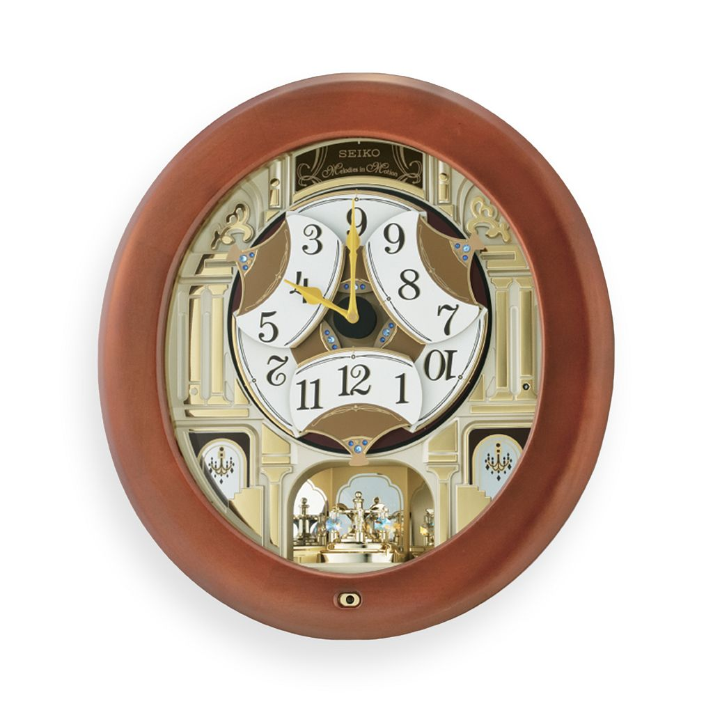 Seiko Melodies in Motion Wood Wall Clock - QXM539BRH