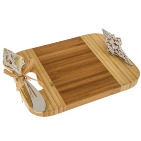 Thirstystone Seashell Bamboo Serving Board and Spreader