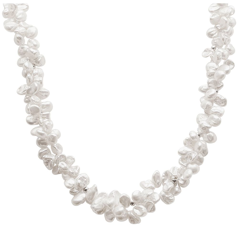 PearLustre by Imperial Keshi Freshwater Cultured Pearl Sterling Silver Necklace