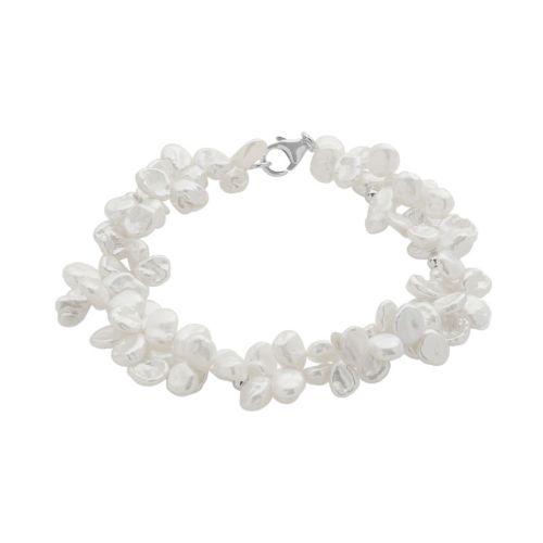 PearLustre by Imperial Keshi Freshwater Cultured Pearl Sterling Silver Bracelet